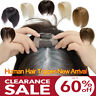 Human Hair Toppers For Women With Thinning Hair Top Topper Black Brown Blonde US