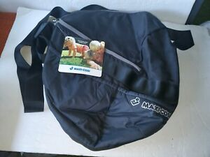 NEW Maxi Cosi Crossbody Diaper Bag Messenger Travel Black Zip Adjustable Strap
