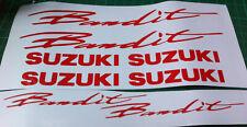 8  X  SUZUKI BANDIT STYLE  VINYL DECAL STICKERS  RED CARBON EFFECT