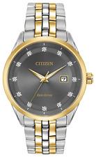 Citizen Eco-Drive Corso Men's Diamond Accents Two-Tone 41mm Watch BM7258-54H