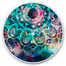 2 x Vinyl Stickers 7.5cm - Blue Teal Abstract Mandala Cool Gift #2711