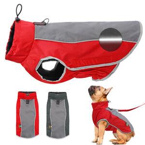 Cappottino Impermeabile Per Cani Riflettente Giacca Gilet Cane Pile Vestiti 3XL
