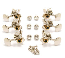 V97N Grover Original Nickel Sta-Tite Vintage Open Gear Guitar Tuners
