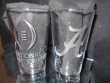 2018 NCAA COLLEGE FOOTBALL PLAYOFF CONTENDER ALABAMA CRIM TIDE ETCHED 16oz GLASS