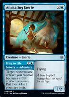 MTG x4 Animating Faerie Throne of Eldraine Uncommon NM/M Magic the Gathering