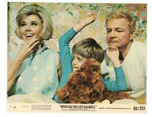 WITH SIX YOU GET EGGROLL, DORIS DAY & BRIAN KEITH, ORIG COLOR LOBBY CARD,1968