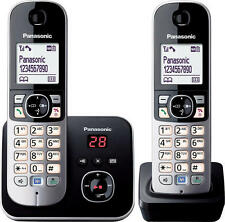 PANASONIC DECT 6 DIGITAL CORDLESS TWIN HANDSET ANSWERING SYSTEM  KX-TG6822ALB