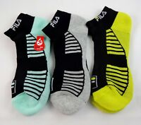Fila Socks Ankle Length 3 Pairs Ladies 9 To 11 Polyester Blend Golf Sports