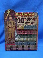 "WW2 ""On Guard"" Punch Board Trade Stimulator"