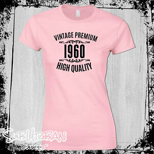 60th Birthday Gift for Women's T-Shirt Vintage 1960 High Quality Funny Gift