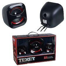 teXet 2.1 Sound Channel Speaker System High Density USB Powered Unit