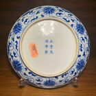 Imperial Guangxu Chinese Antique Porcelain Blue And White Plate With Lotus 19thC