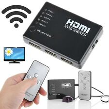 NEW 1080P Video HDMI Switch Switcher Splitter for HDTV PS3 DVD + IR Remote