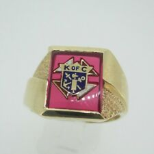 10k Yellow Gold Knights of Columbus Ring Size 11 3/4