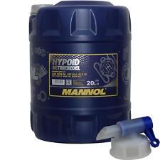 20 Liter MANNOL Getriebeöl Hypoid Getriebeoel 80W-90 API GL4/GL 5 + Auslaufhahn