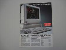 advertising Pubblicità 1989 PHILIPS NMS TC 100