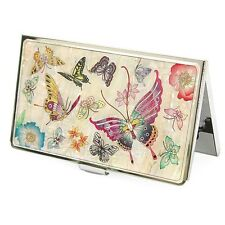 Bsiness Card Holder ID Card Card Case Holder Butterfly Pattern Mother of Pearl