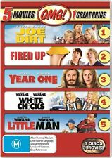 Fired Up + Joe Dirt + Little Man + White Chicks + Year One -DVDS BRAND NEW R4