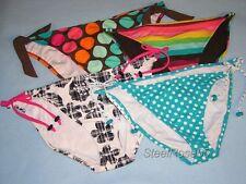 NEW 4 Lot Junior Aeropostale Bikini SwimSuit Bottoms Stripes Polka Dots Plaid XL