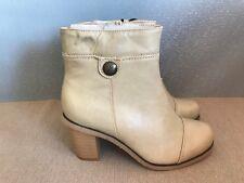 BNWT Ladies Sz 9 Rivers Brand Super Soft Beige High Heel Short Boots RRP $99.95