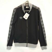 New Umbro Mens Sz M Medium Black Diamond Tape Track Soccer Jacket