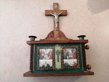 Antique Extreme Onction Shrine Kit. Been Use Several Time. See Description