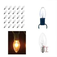 25 Pack Bulbs C9 Transparent Christmas Replacement For Outdoor Patiao String