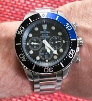 Seiko SSC017P1 Solar Men's Watch V175 Chronograph RUNNING