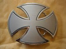 Silver Unisex Chopper Celtic Iron Cross Chopper Motorcycle Belt Buckle Heavy Hog
