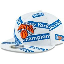 New York Knicks New Era Team Taped Retro Crown 9FIFTY Adjustable Snapback Hat -