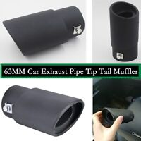 63MM Car Exhaust Tip Muffler Trim Pipe DIY Replacement Stainless steel Styling