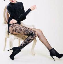 New Black Fishnet Stocking With Roses Sexy Hosiery Black Hot Pantyhose