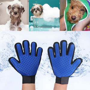 Pet Dog Cat Horse Grooming Wash Bath Glove Deshedding Brush Fur Remover Mitt