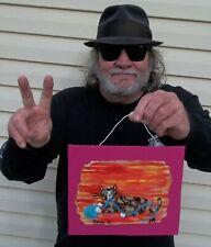 Fun Calico Happy Cat Folk Art Outsider Folk Art Raw Dan C / JR collaboration art