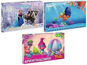 Advent Christmas Calendar Frozen Finding Dory Trolls Disney Pixar Dreamworks