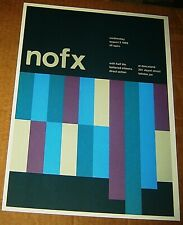 NOFX QUASI ROCK CONCERT POSTER SWISS PUNK GRAPHIC POP ART 2-SIDED 10X14 JOYCE