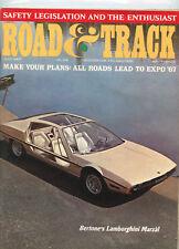 July 1967 Road & Track Magazine Lamborghini Marzal Cover