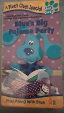 Blues Clues Big Pajama Party (VHS 1999) Vintage Nick Jr Tape - Free U.S Shipping