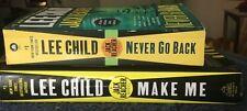 Jack Reacher Novels-Never Go Back #16 PB -Make Me #17 (Hard Cover) by Lee Child
