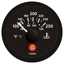 VDO VIEWLINE ONYX 250F/120C WATER TEMPERATURE GAUGE 12/24V