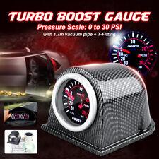 2'' 52mm LED Car Turbo Boost Gauge Meter Pointer PSI Cup Smoke Lens Universal US