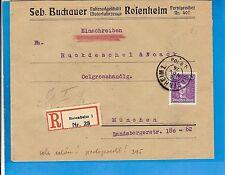DR / ROSENHEIM 1./1. a 16. NOV. 26, Bay.-K2 a. portoger. Kab.-E.-Brf. m. EF 395