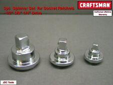 CRAFTSMAN HAND TOOLS 3 pc 1/4 3/8 1/2 Ratchet Spinner Adapter Disks v1