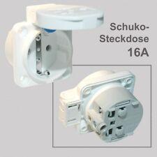 Anbau-/Einbau-Schuko-Steckdose 16A 250V IP54 weiß, von PCE 105-0w