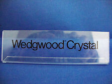 RARE Wedgwood Crystal Shop Display Advertising Sign Stand Point of Sale