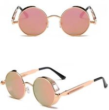 bff67be071 Vintage Men Polarized Steampunk Sunglasses Women Round Metal Frame Retro  Glasses