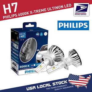 Genuine PHILIPS 2 PCS H7 6000K +200% 12V 25W X-tremeUltinon LED White Headlight