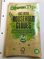 I FSC Small Certified Fair Rubber Latex Household Gloves CARTON 8 PAIRS