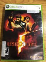 Resident Evil 5 (Microsoft Xbox 360, 2009) Capcom Complete Free Shipping