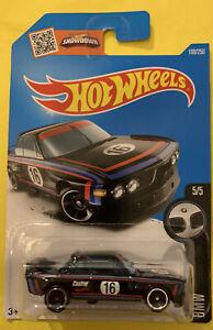 HOT WHEELS '73 BMW 3.0 CSL RACE CAR in BLACK - 2016 HW BMW Series 5/5 Long Card